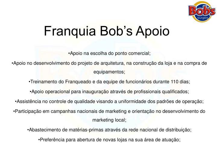 Franquia Bob's Apoio