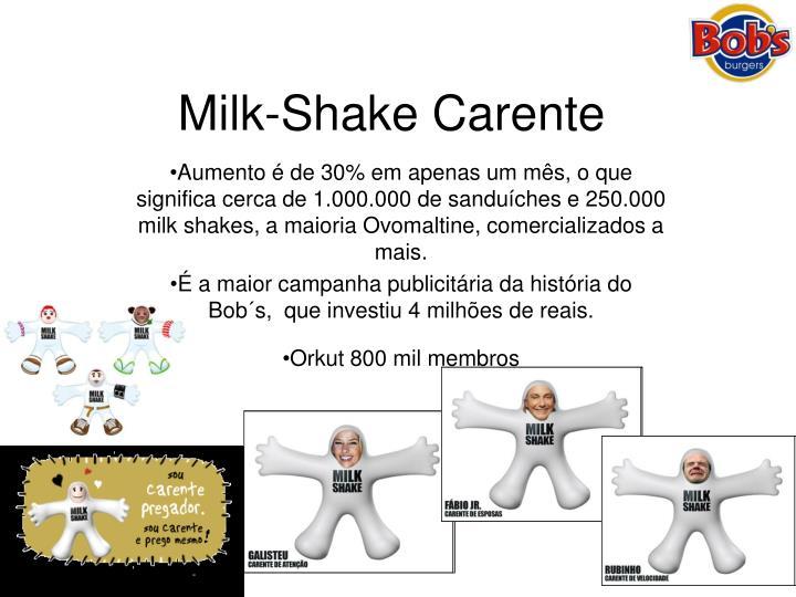 Milk-Shake Carente