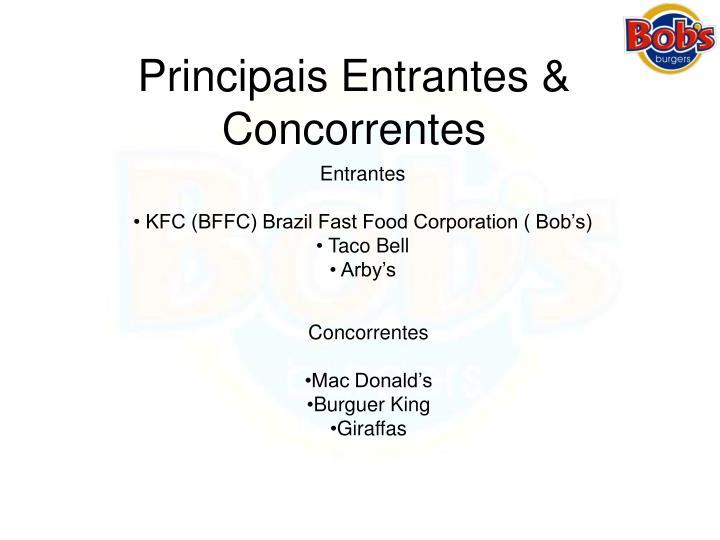 Principais Entrantes & Concorrentes