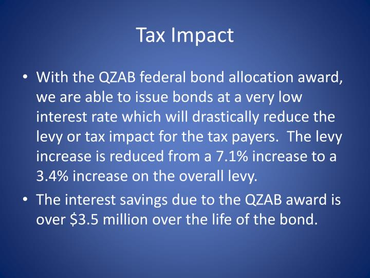 Tax Impact