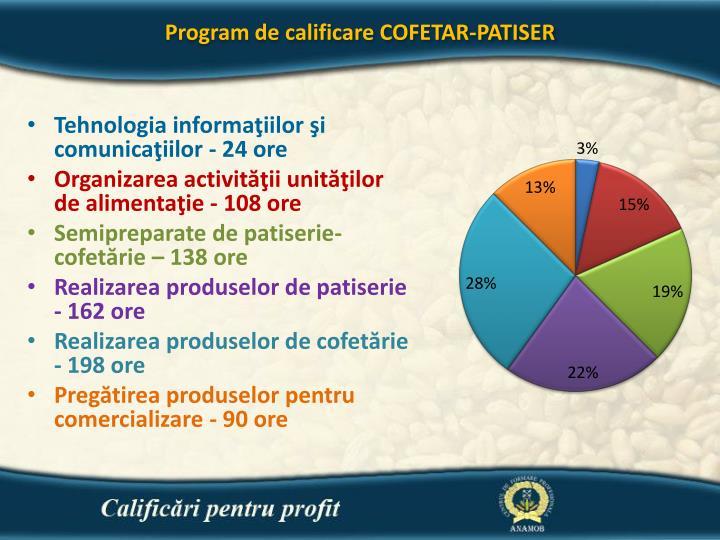 Program de calificare