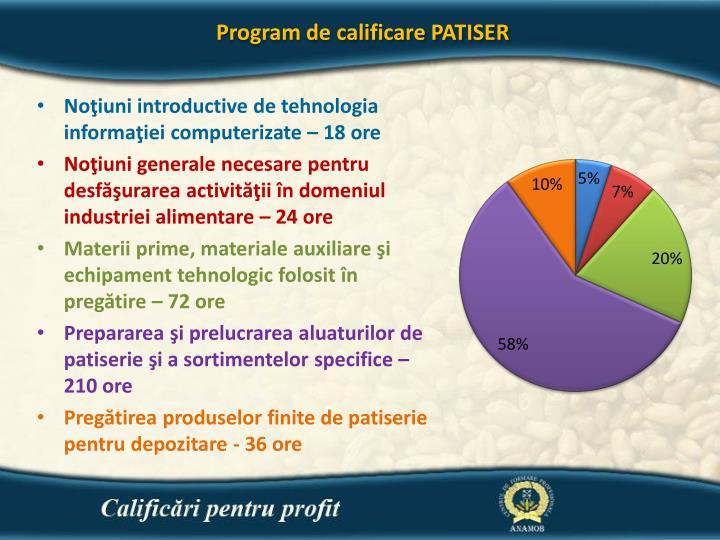 Program de calificare PATISER