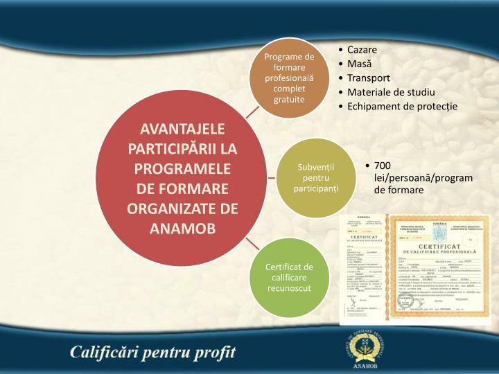 AVANTAJELE PARTICIPĂRII LA PROGRAMELE DE FORMARE ORGANIZATE DE ANAMOB