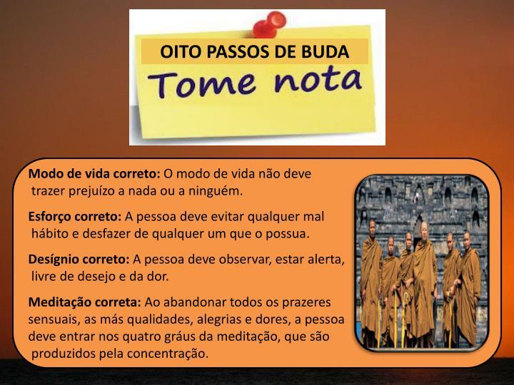 OITO PASSOS DE BUDA