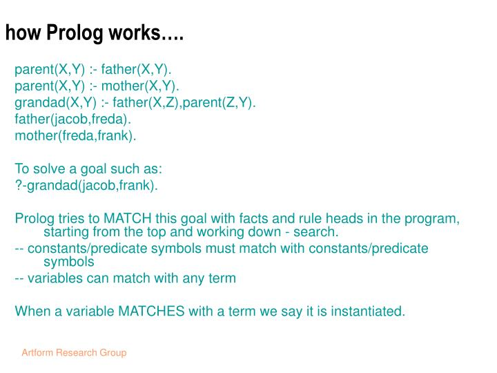how Prolog works….