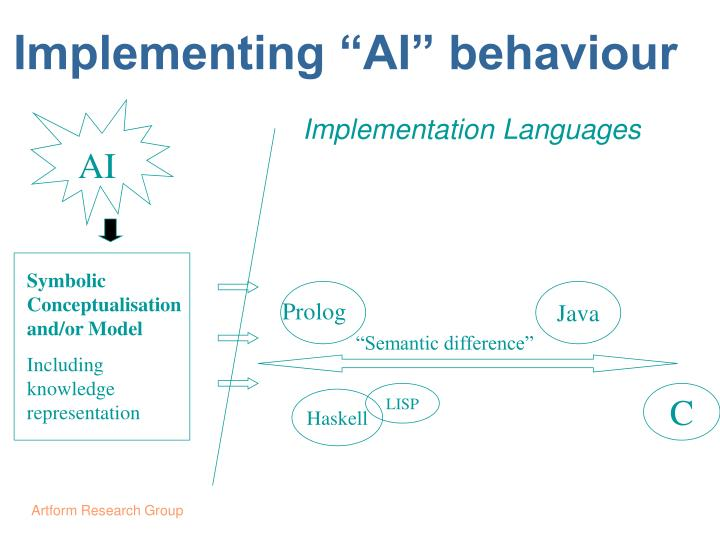 Implementing ai behaviour