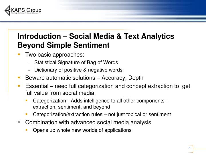 Introduction – Social Media & Text Analytics