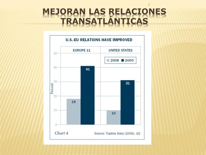 Mejoran las relaciones transatlánticas