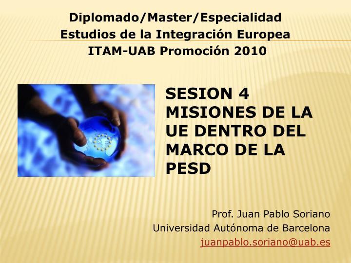 Prof. Juan Pablo Soriano