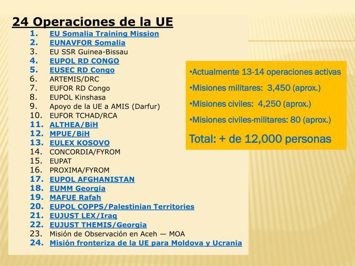 24 Operaciones de la UE