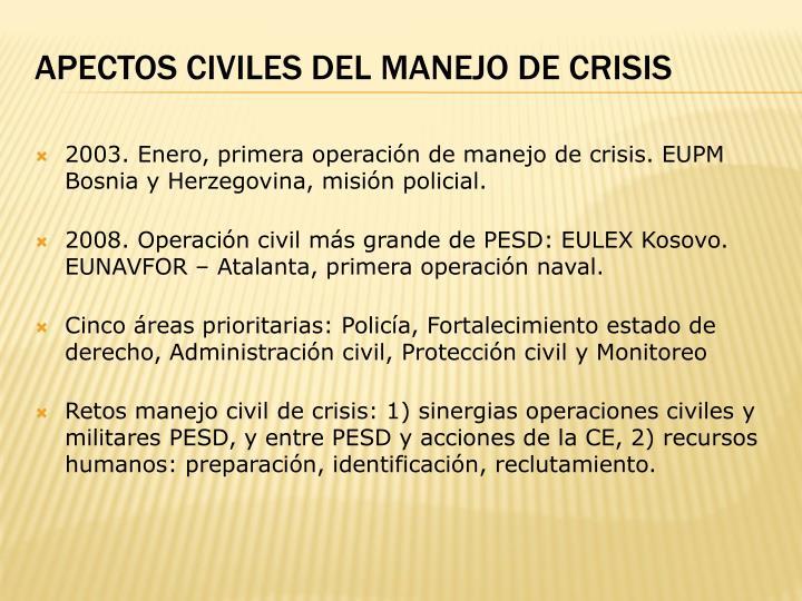 APECTOS CIVILES DEL MANEJO DE CRISIS