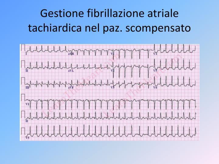 Gestione fibrillazione atriale
