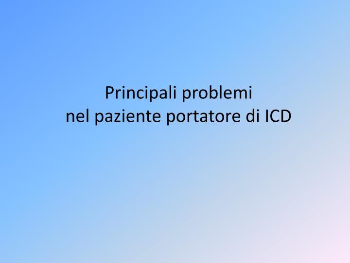 Principali problemi