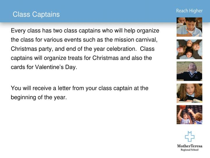 Class Captains