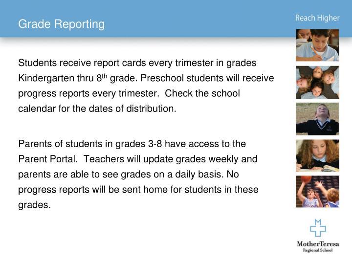 Grade Reporting