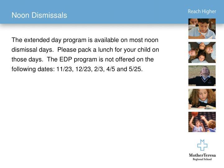 Noon Dismissals