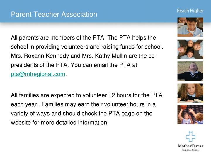 Parent Teacher Association
