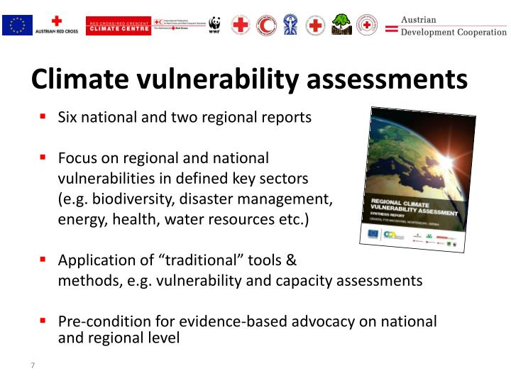 Climate vulnerability assessments