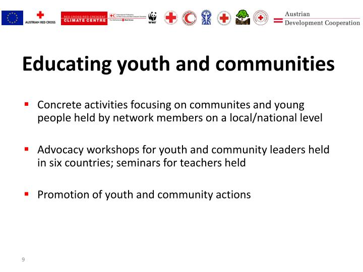 Educating youth and communities
