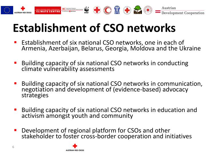 Establishment of CSO networks