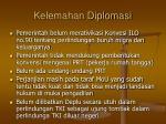 kelemahan diplomasi