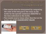 processing the specimen testing procedure3