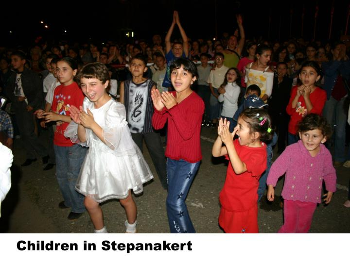 Children in Stepanakert