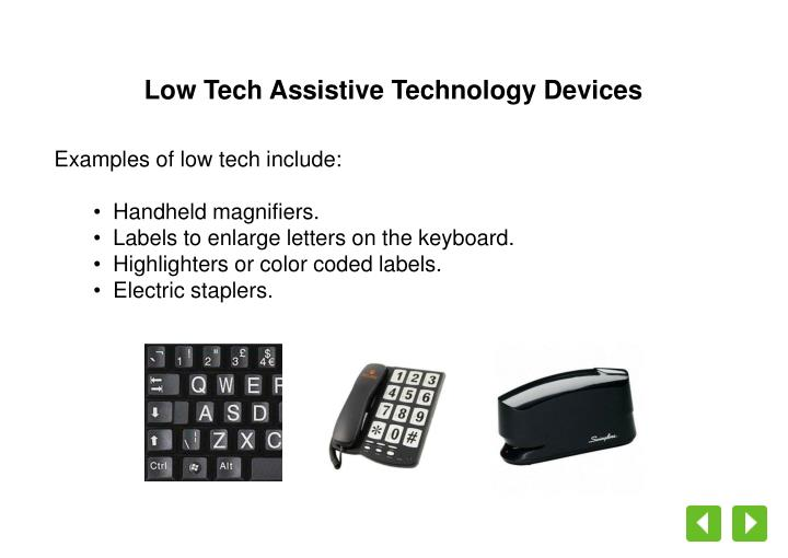 Low Tech Assistive Technology Devices
