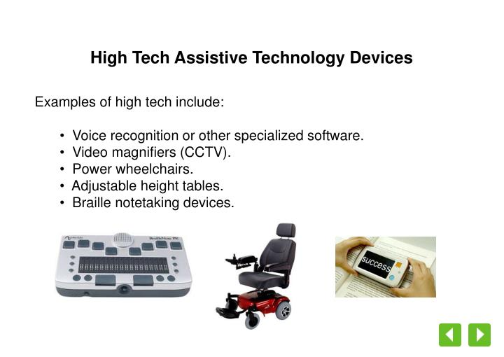 High Tech Assistive Technology Devices