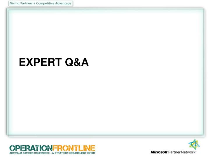 EXPERT Q&A