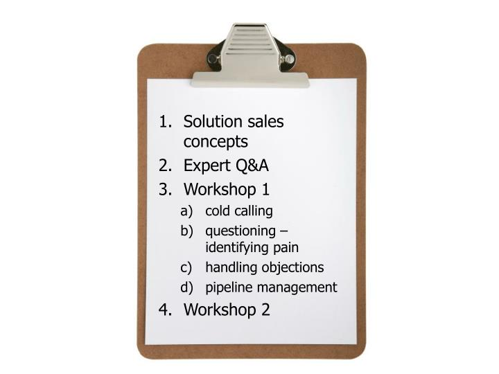 Solution sales concepts