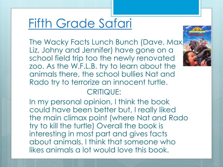 Fifth Grade Safari