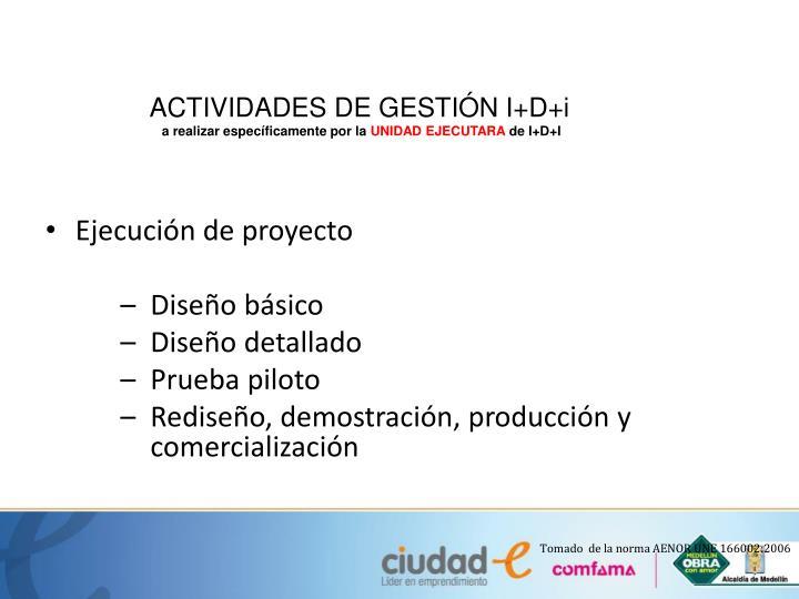ACTIVIDADES DE GESTIÓN I+D+i