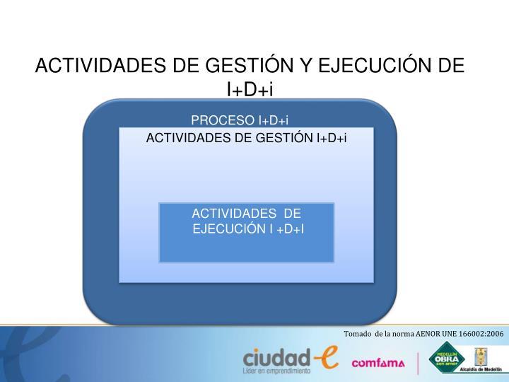 ACTIVIDADES DE GESTIÓN Y EJECUCIÓN DE