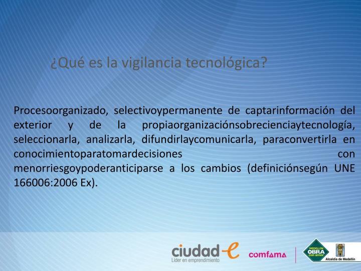 ¿Qué es la vigilancia tecnológica?