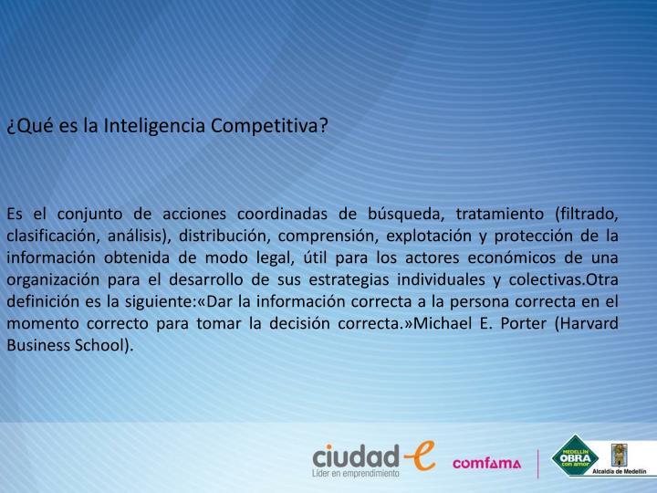 ¿Qué es la Inteligencia Competitiva?