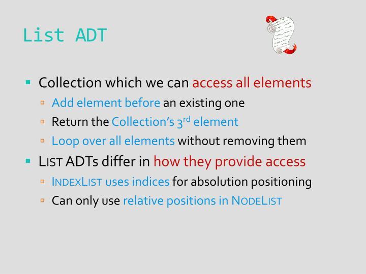 List ADT