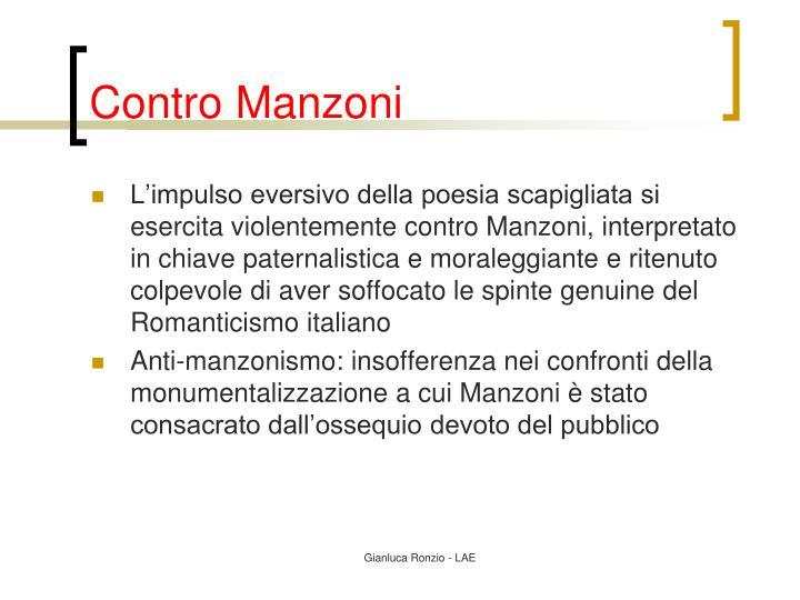 Contro Manzoni