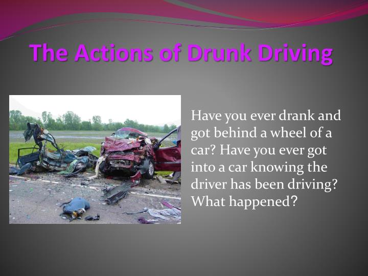 problems of drinking and driving
