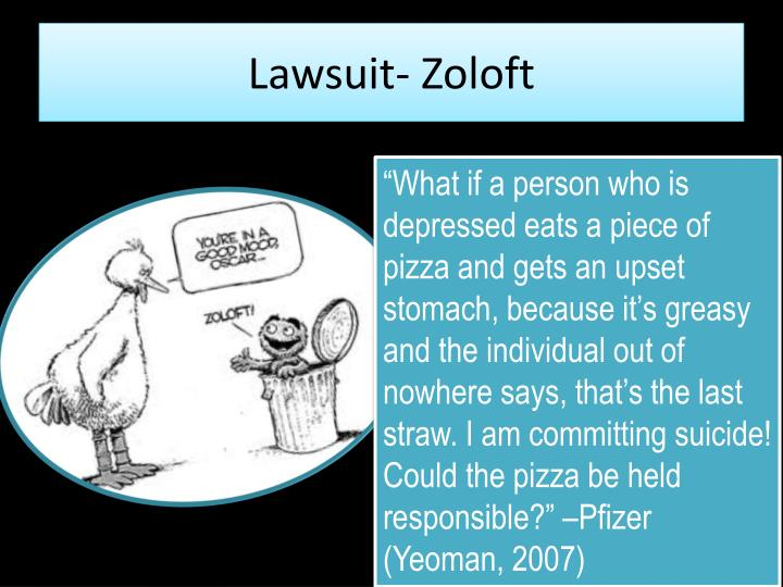 Lawsuit- Zoloft