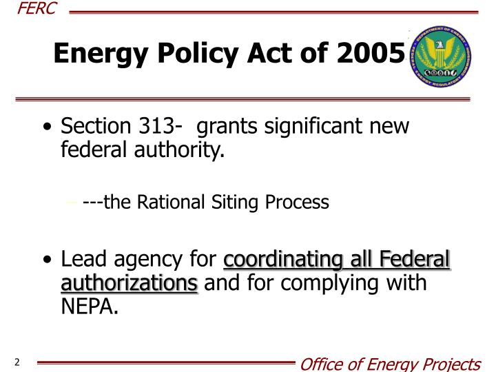 Energy Policy Act of 2005