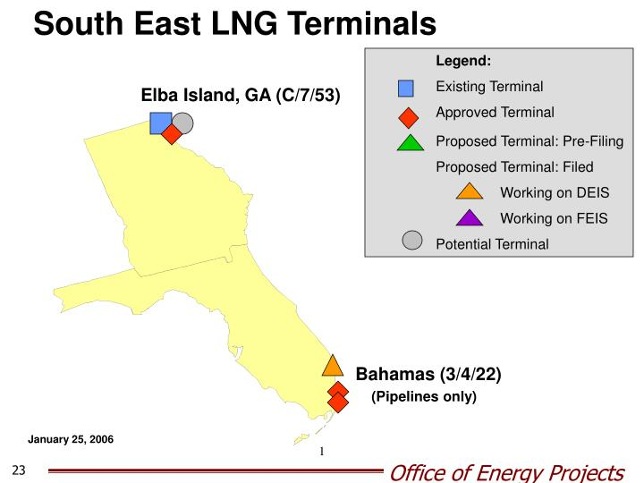 South East LNG Terminals