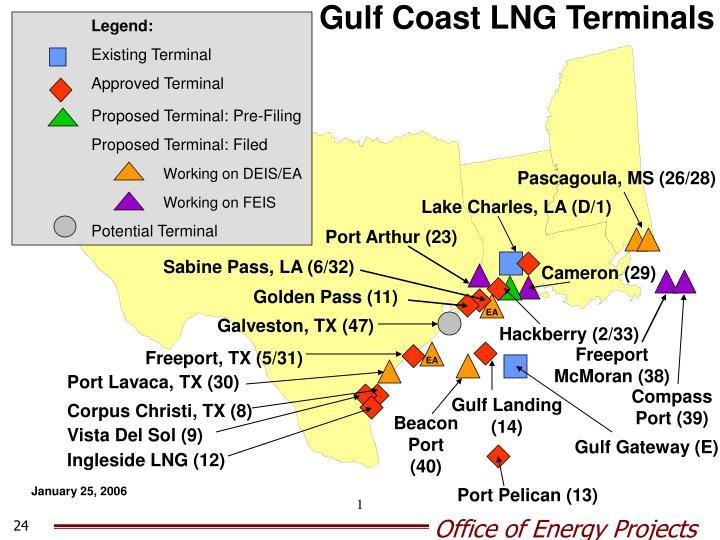 Gulf Coast LNG Terminals