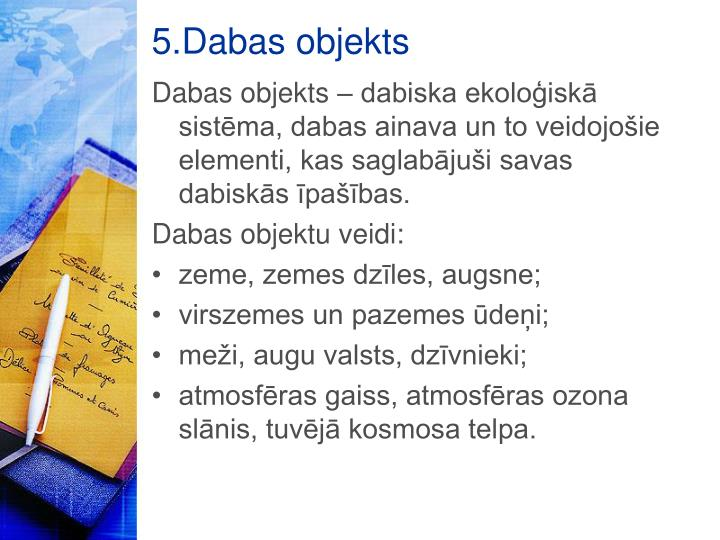 5.Dabas objekts