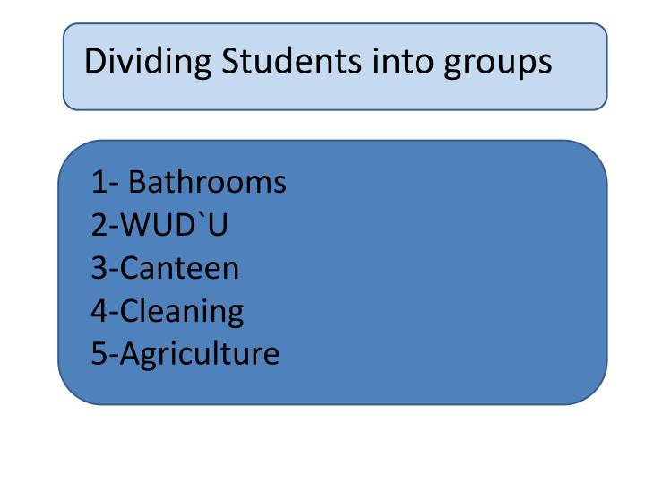 Dividing Students into groups