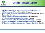 events highlights 2011