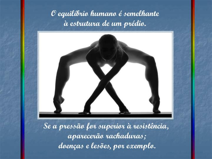 O equilíbrio humano é semelhante