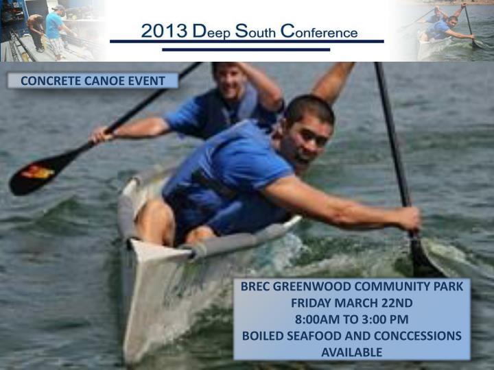 CONCRETE CANOE EVENT