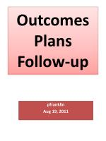 outcomes plans follow up