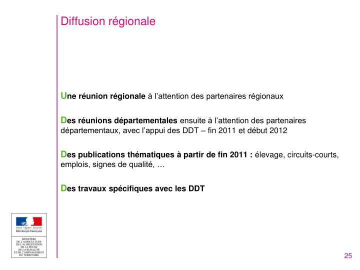 Diffusion régionale
